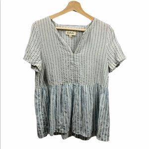 Listicle striped top- size M